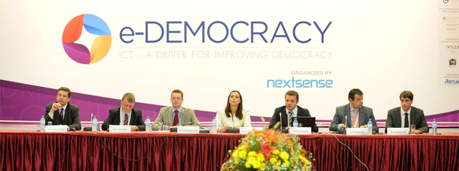 The official opening of the e-Democracy Conference 2012